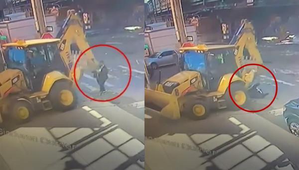 走路滑手机 护士遭挖土机狠撞辗死