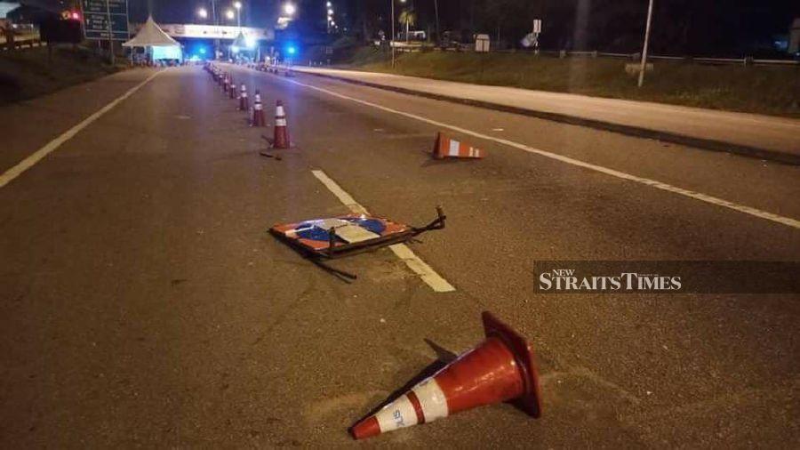 Drunk beauty specialist rams into roadblock in Damansara