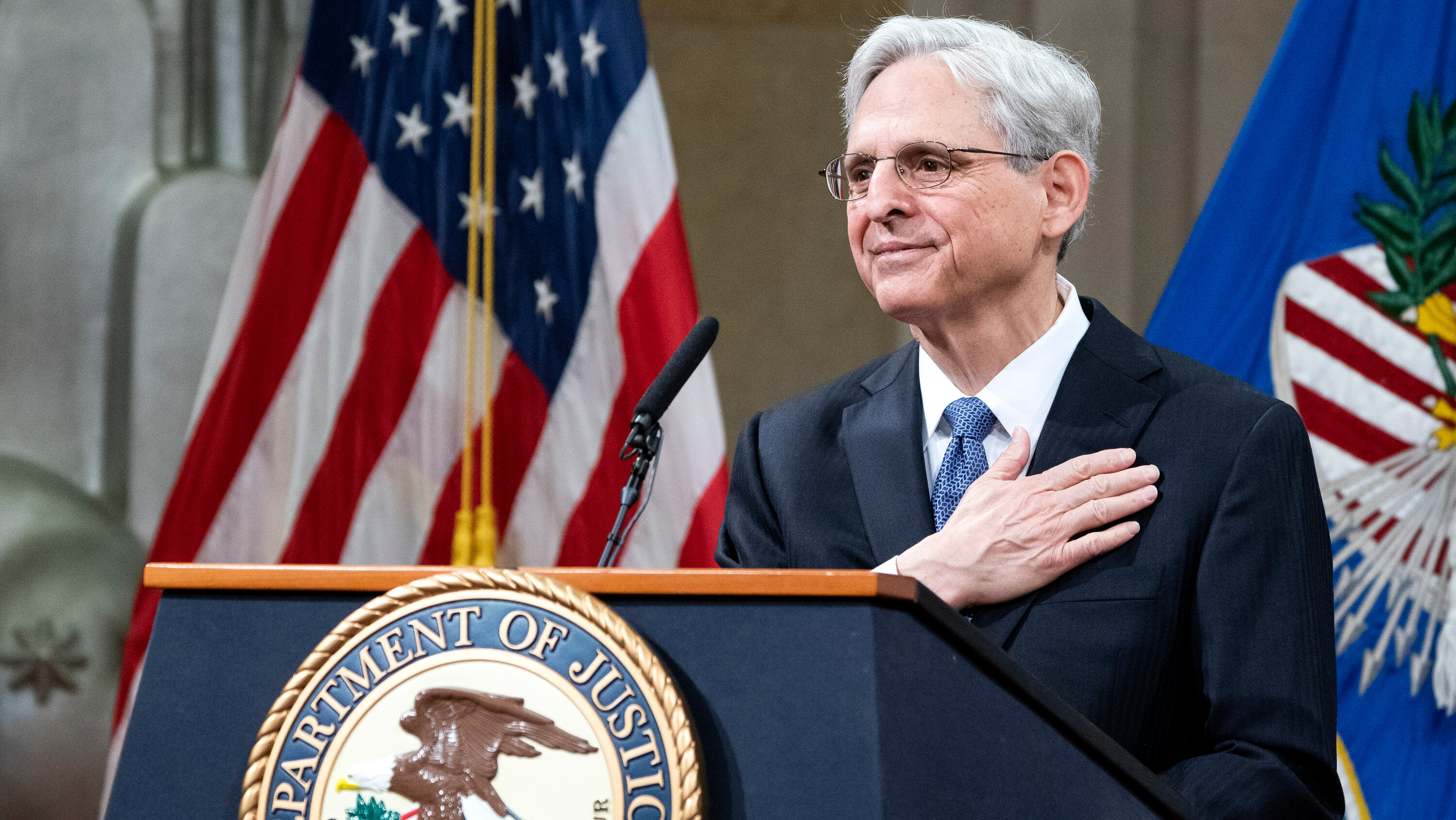 On First Day, Garland Vows to Restore Justice Dept. Independence