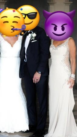 婆婆穿性感镂空白纱 合照比新娘还辣 网友:谁才是新娘