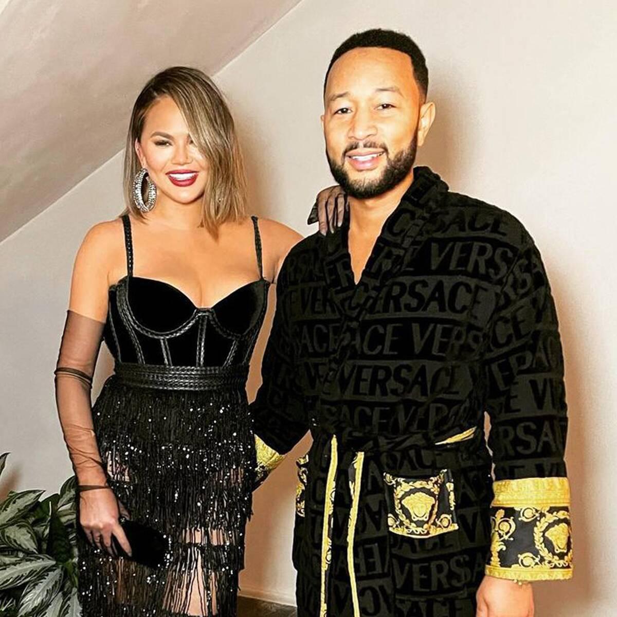 Chrissy Teigen Upstages John Legend's Grammys Robe With Her Raciest Look Yet