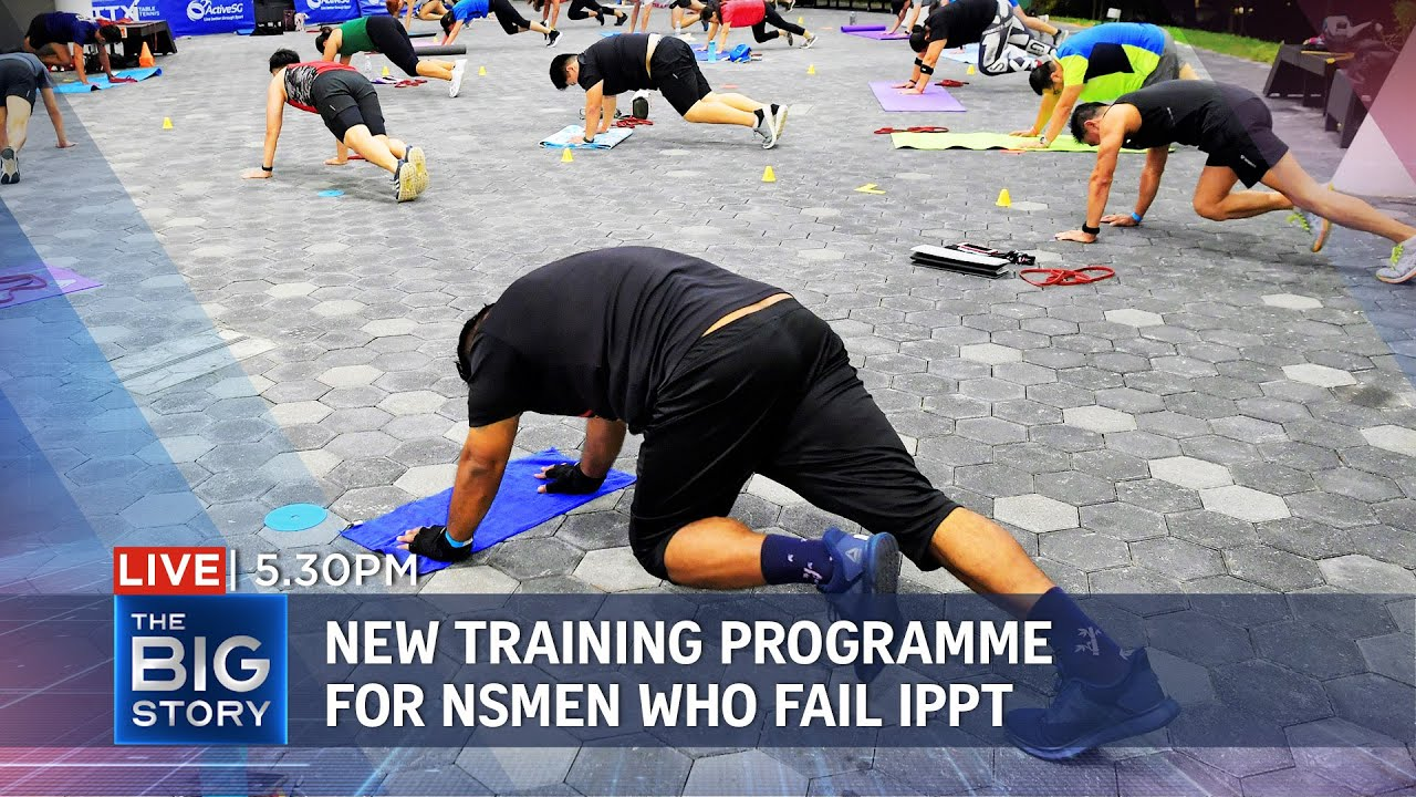 New fitness improvement training programme for NSmen who cannot pass IPPT   THE BIG STORY