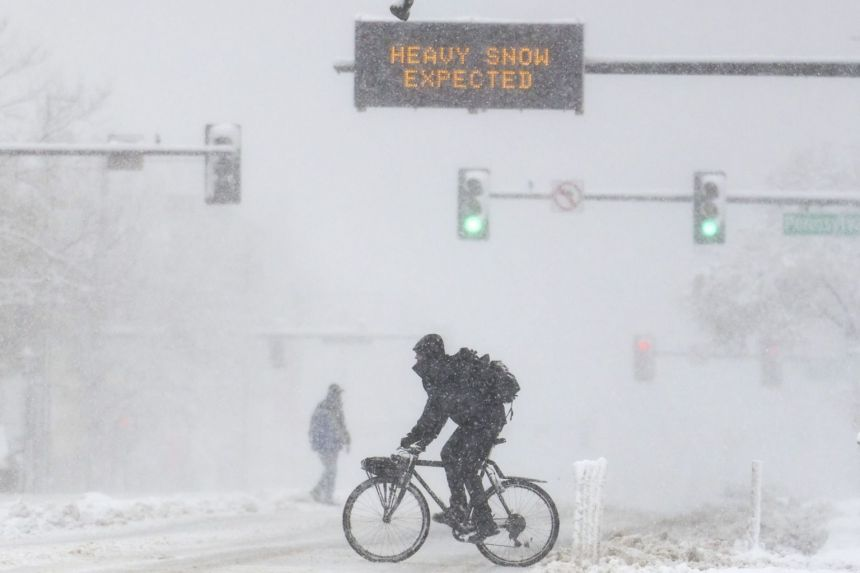 Dangerous winter storm batters western US as airport, highways shut down