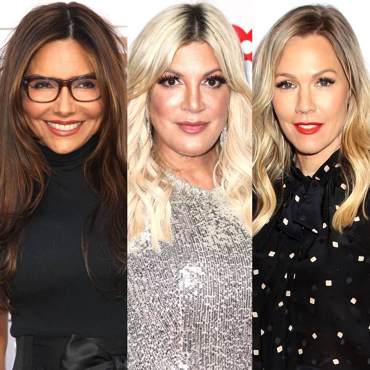 """Tori Spelling and Jennie Garth React to Vanessa Marcil's 90210 """"Cattiness"""" Claims"""