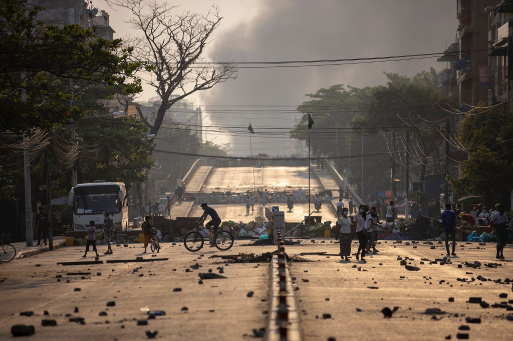 At least 20 dead in Myanmar crackdown: monitoring group