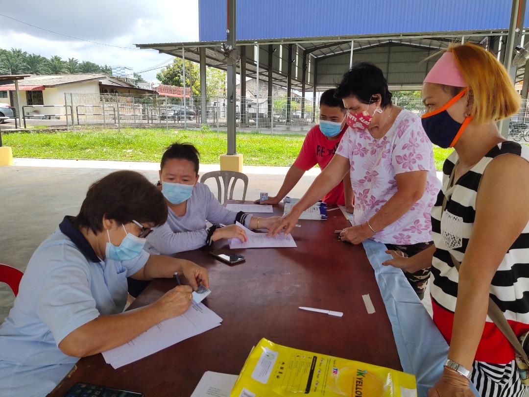 丹那美拉A村278人登记接种疫苗
