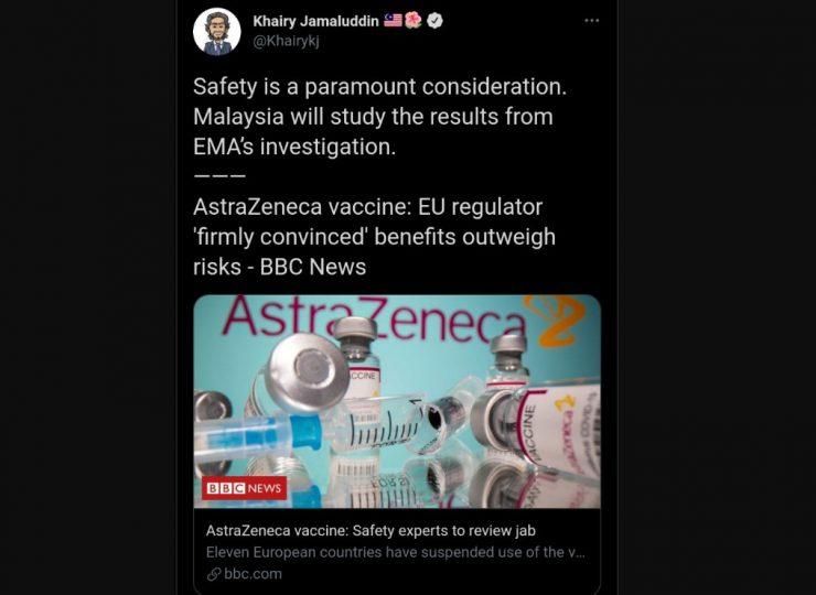 凯里:阿斯利康疫苗安全考量 将研究欧洲药品局调查报告