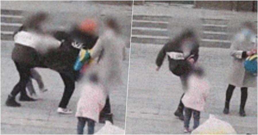 孩子玩耍时绊倒 双方家长互踹对方小孩…警员调停被呼巴掌