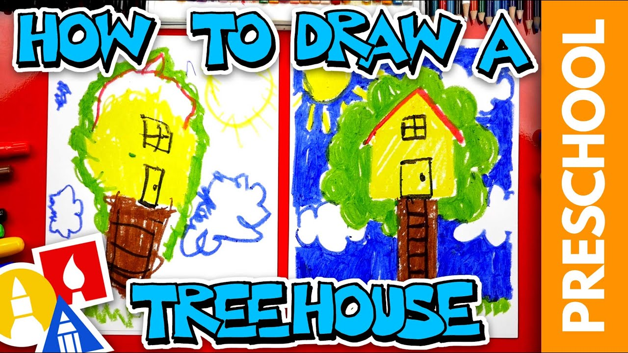 How To Draw A Treehouse - Preschool