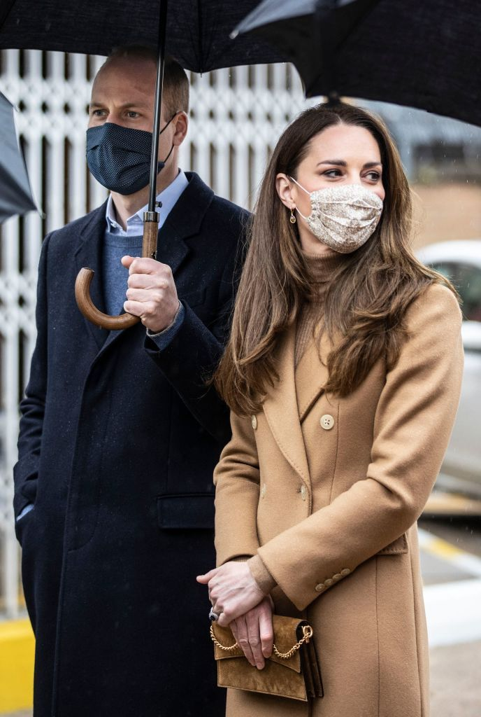 Kate Middleton Keeps It Chic with a Camel Coat and Suede Mini Bag in East London