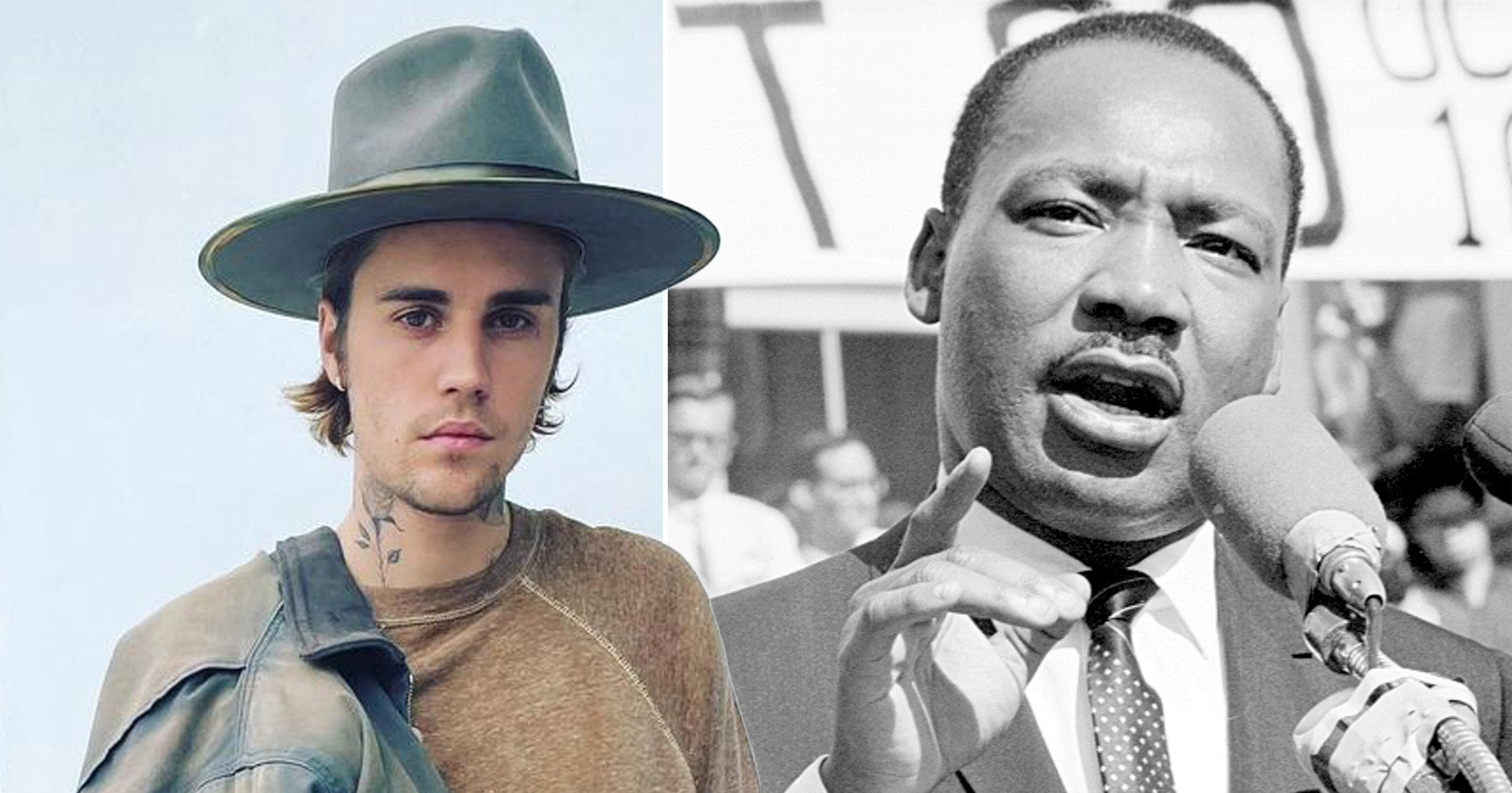 Justin Bieber gets support from Martin Luther King's family as he's slammed for using iconic speech clips on new album