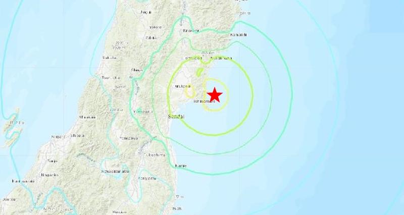 日本7.2级地震 宫城县发海啸警报