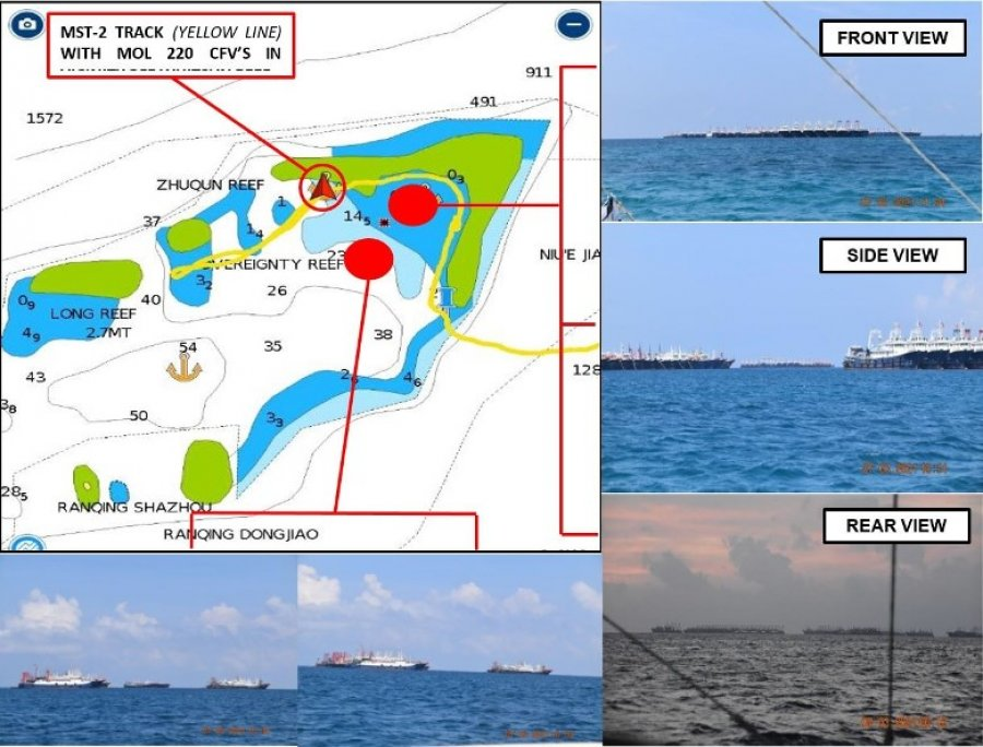 菲律宾指控220华船现争议水域