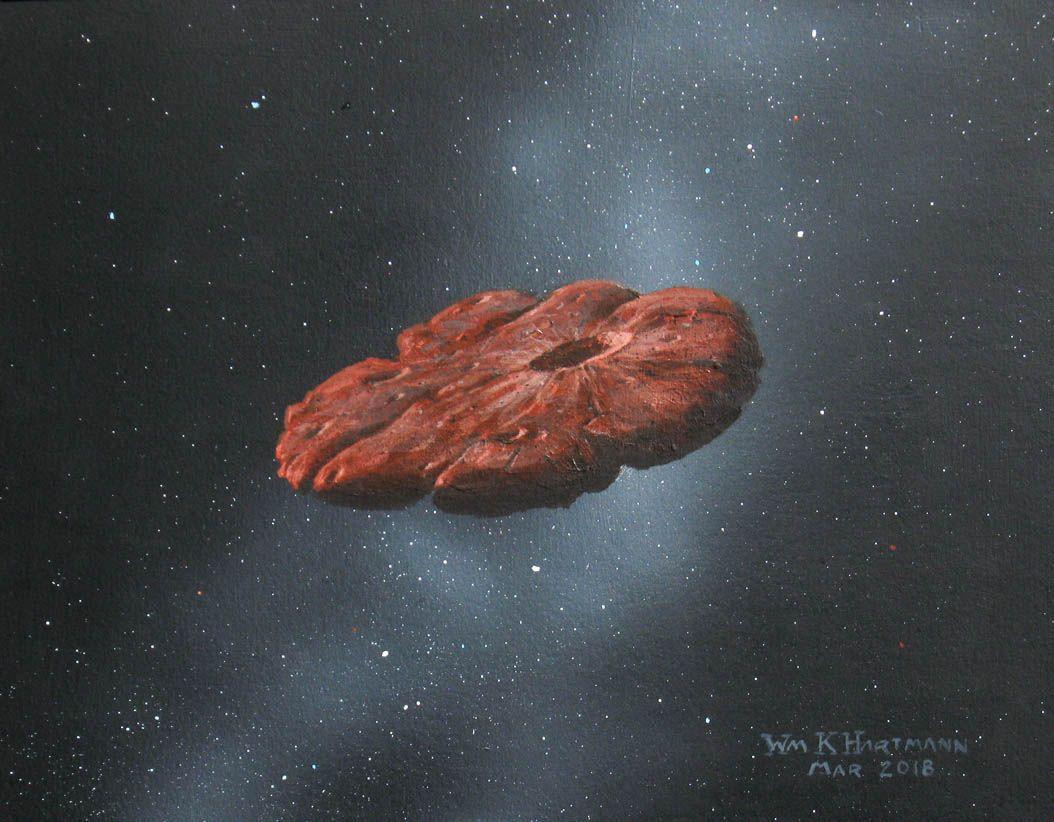 Interstellar object 'Oumuamua is a pancake-shaped chunk of a Pluto-like planet