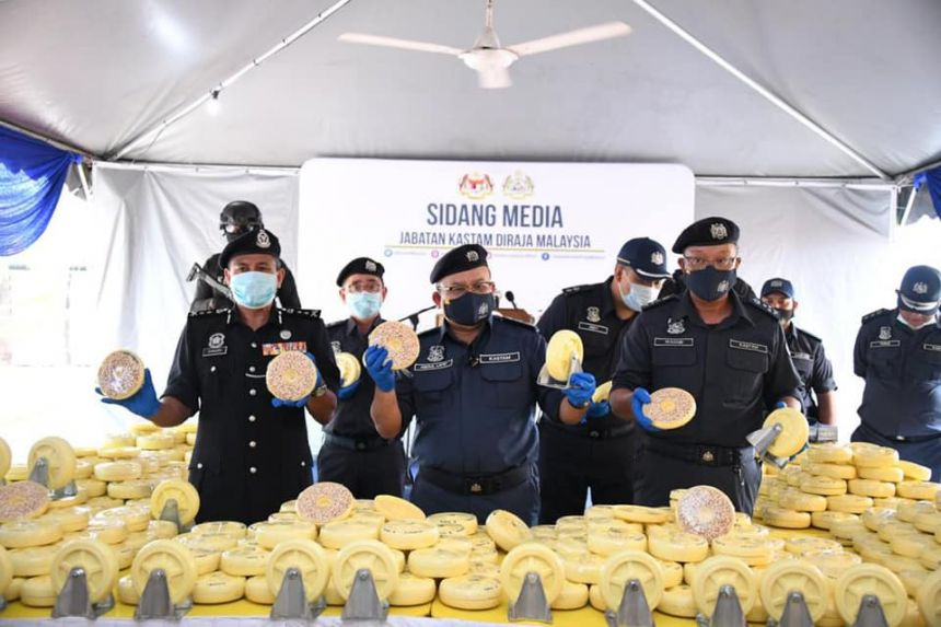 Malaysia's Customs nets biggest haul of smuggled drugs worth $1.7b