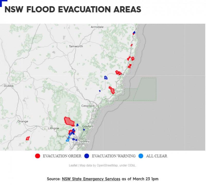"""悉尼耗资$1.37亿""""抗洪""""大桥被洪水淹没,暂停使用!交通部门解释:属极端事件(组图)"""