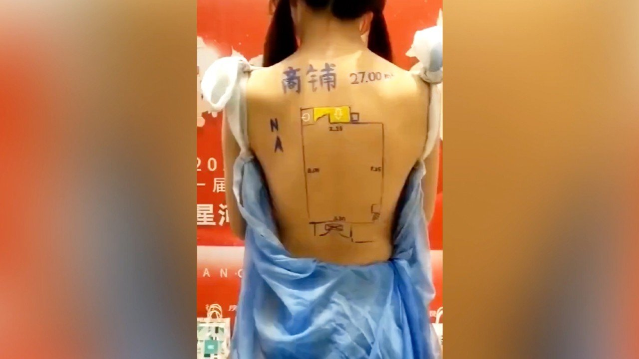 Property developer in China accused of 'consuming women, selling vulgarity' for turning models' bodies into floor plan brochures