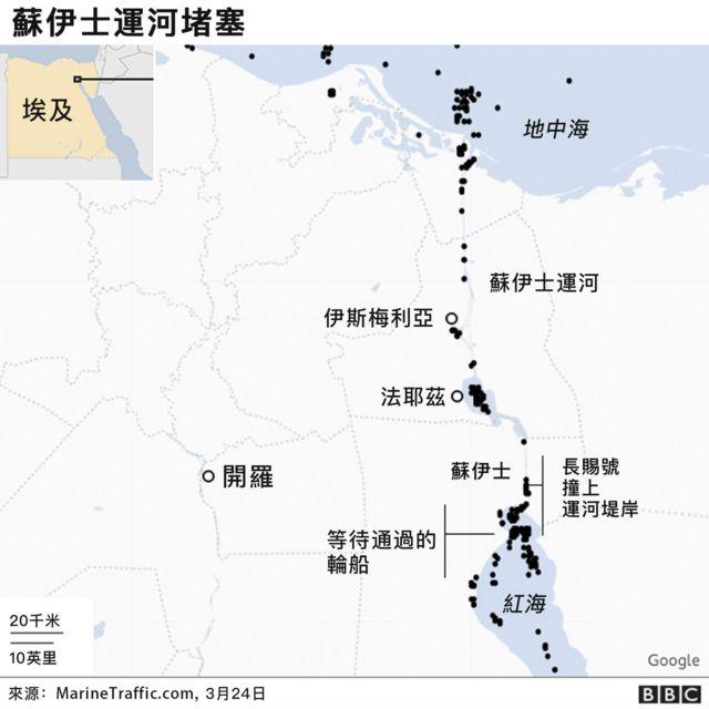 """台湾巨轮""""长赐号""""搁浅卡死苏伊士运河 欧亚航道瘫痪(组图)"""