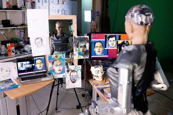 The Latest Artist Selling NFTs? It's a Robot.