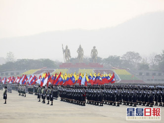 缅甸军人节举行阅兵 仰光军警开枪镇压最少50死