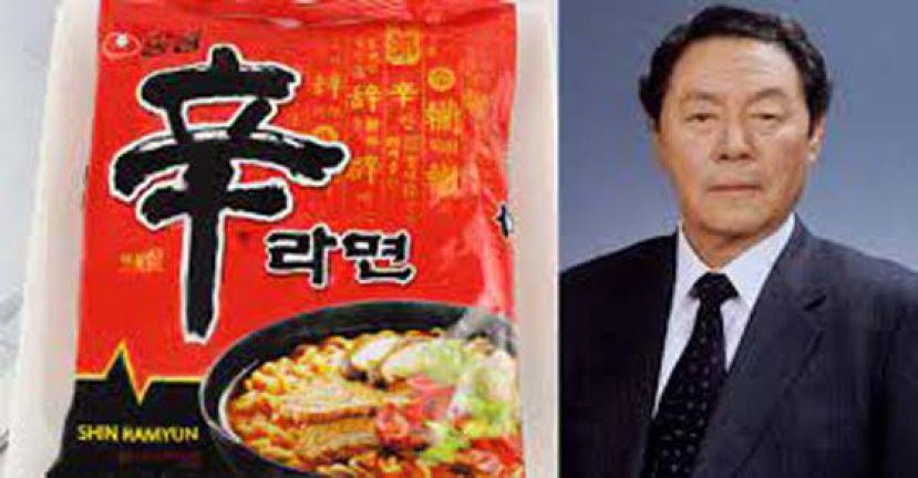"""韩国""""辛拉面""""发明人 辛春浩病逝 享年92岁"""