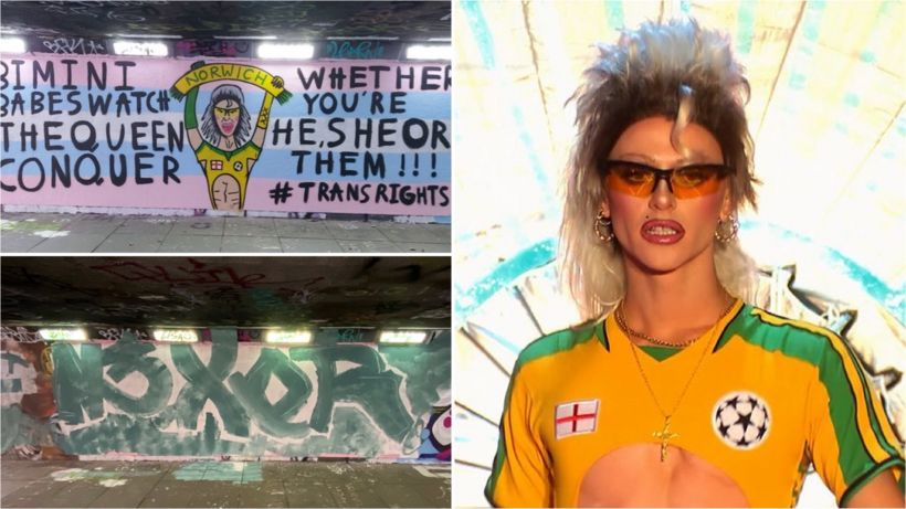 Drag Race UK: Bimini Bon Boulash mural painted over