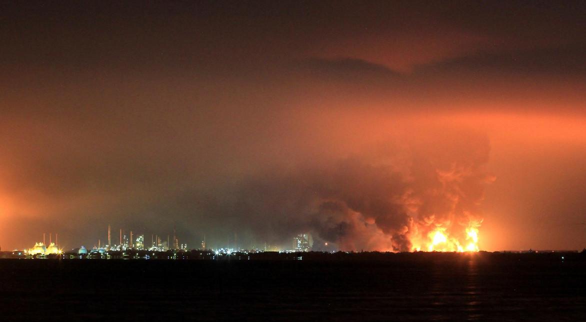 Five injured, hundreds evacuated after massive blaze at West Java oil refinery