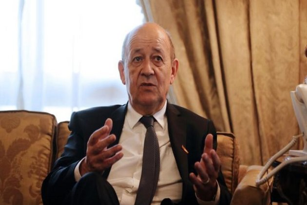 French Foreign Minister Le Drian arrives in India