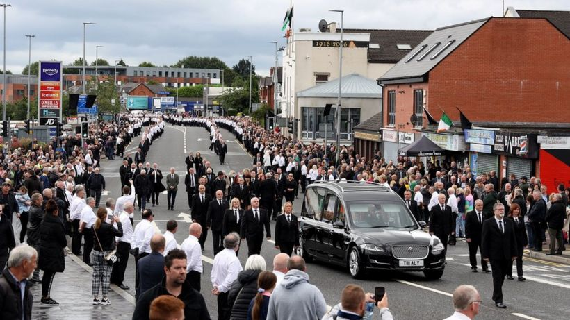 Bobby Storey funeral: Policing in NI 'never more politicised or toxic'