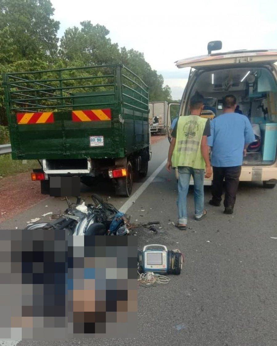公路交通意外 骑士重创头部惨死