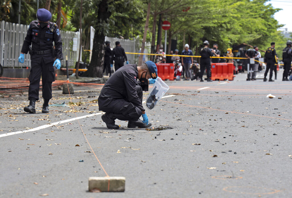 Makassar church suicide bombers were newlyweds