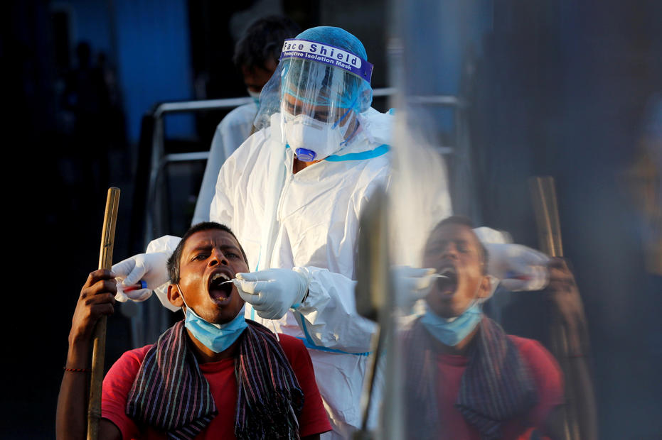 India's daily new infections highest in six months