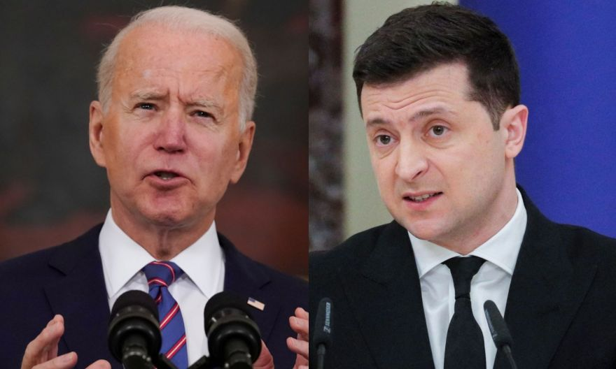 Biden offers Ukraine 'unwavering support' in faceoff with Russia