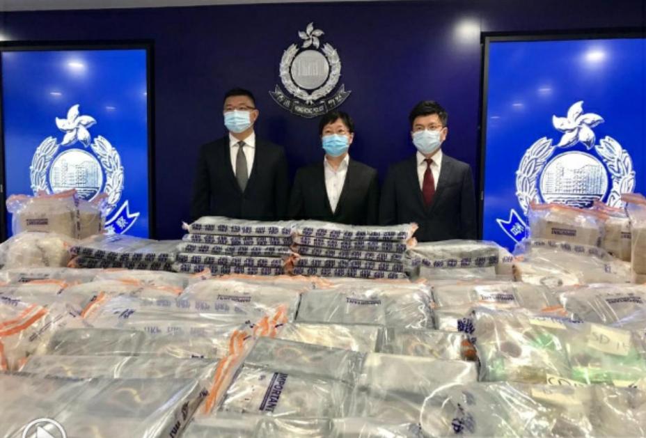 港警起获超过700公斤可卡因 历来最大宗可卡因走私案