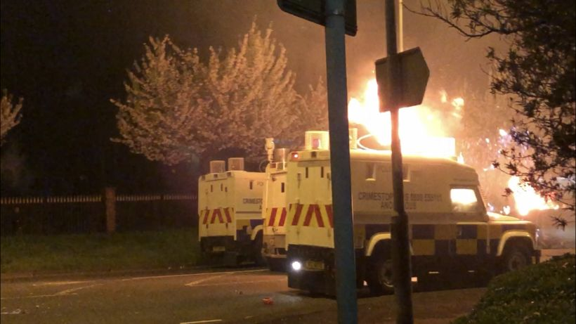 Newtownabbey: Police attacked with petrol bombs and fireworks