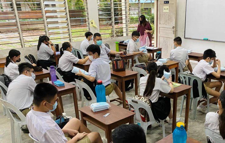 石角民立中学今日全校正式恢复实体课 学生出席率达98%