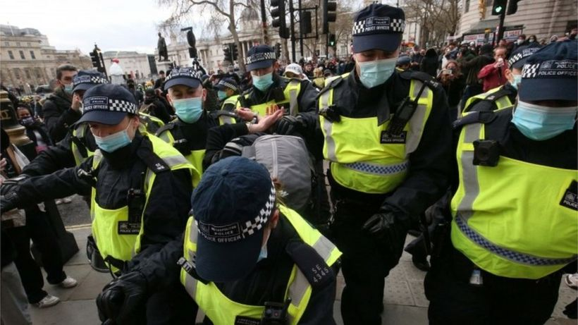Kill the Bill protests: More than 100 arrested in London