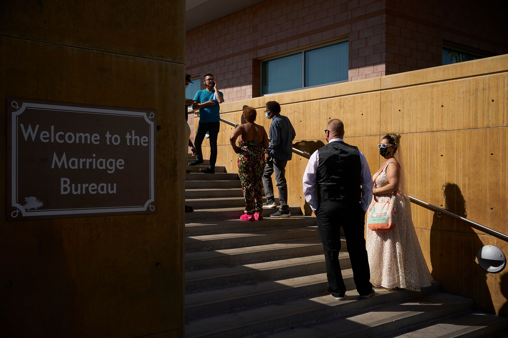 Hundreds of Couples Line Up for Marriage Licenses at Las Vegas Bureau for 4/3/21 Wedding Date