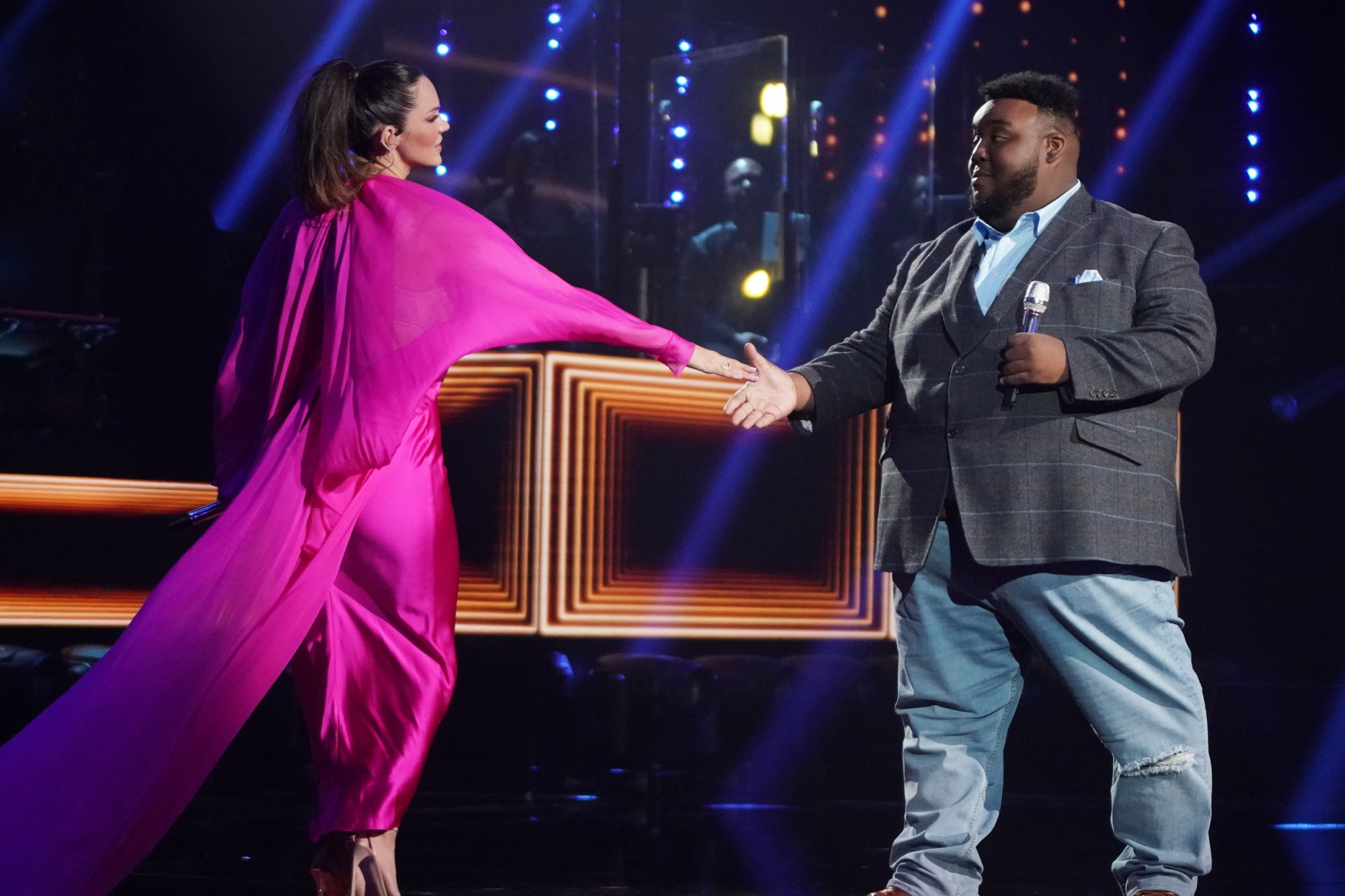 Katharine McPhee Joins Idol Contestant Willie Spence for Show-Stopping Duet of 'The Prayer'