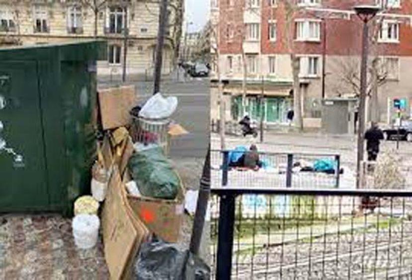 浪漫之都变了样 巴黎处处见垃圾