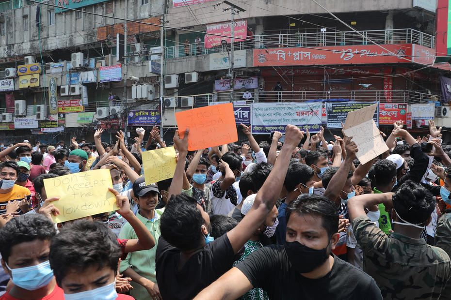 1 killed after Bangladesh police fire on Covid-19 protesters