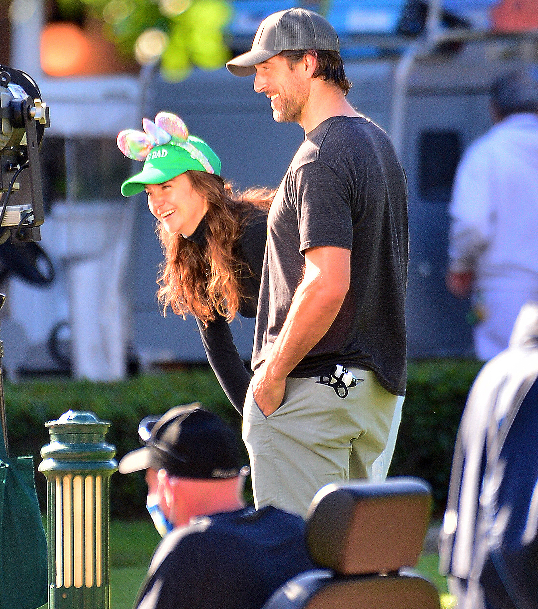 Aaron Rodgers Talks 'Cuddle Time' with Fiancée Shailene Woodley During Visit to Disney World