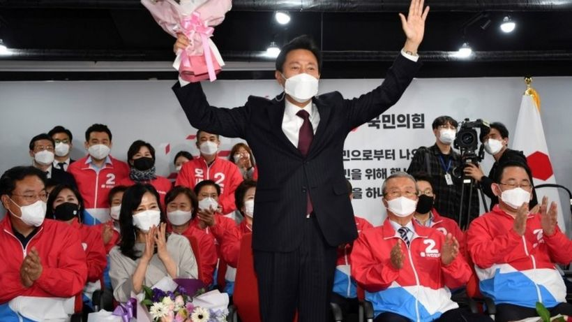 South Korea ruling party suffers crushing defeat in mayoral vote