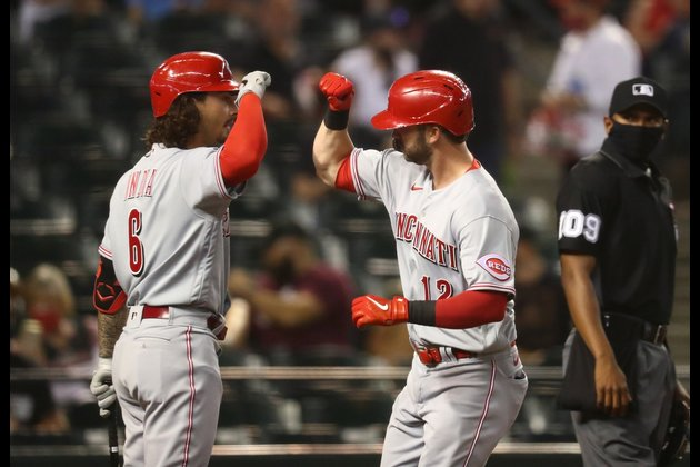 Reds blow 5-0 lead, beat Diamondbacks in 10 innings