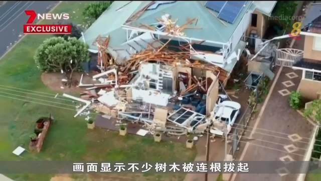 热带气旋袭卷澳洲西海岸 房屋被摧毁电力供应一度中断