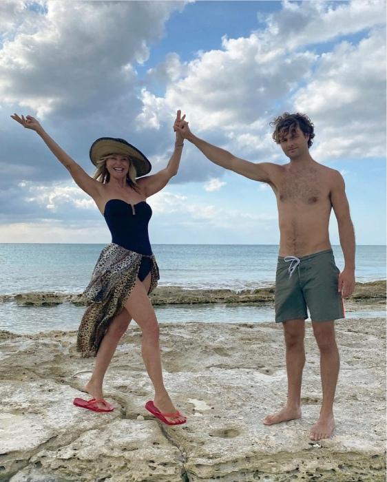 Christie Brinkley rocks slinky swimsuit as she shares sweet family snaps
