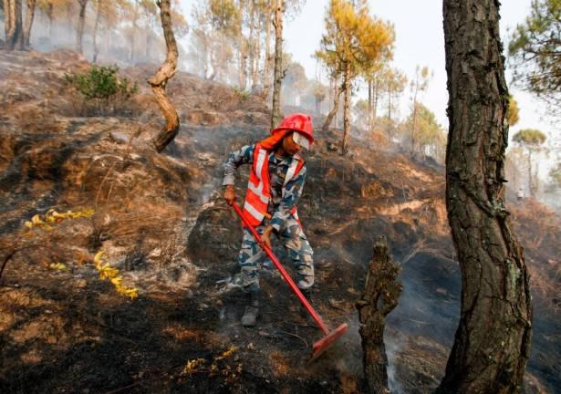 Nepal chokes on smoke and ash as drought-worsened wildfires rage