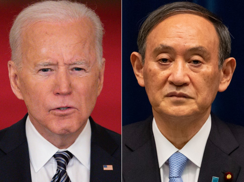 Biden, Suga to send signal to assertive China at DC summit