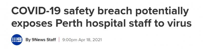 与确诊者共用电梯,澳3名医院员工面临感染风险!(图)