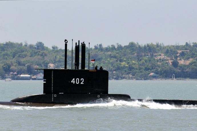 印尼潜舰载53人失联 推测已沉没